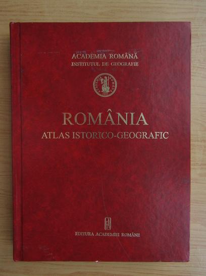 Anticariat: Romania, atlas istorico-geografic (romana, franceza, engleza, germana)
