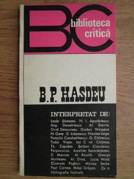 Anticariat: Grigore Brancus - B. P. Hasdeu