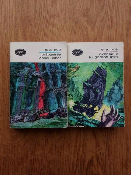 Anticariat: Edgar Allan Poe - Prabusirea Casei Uscher. Aventurile lui Gordon Pym (2 volume)