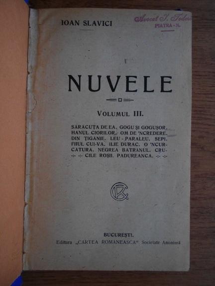 Anticariat: Ioan Slavici - Nuvele (volumul 3)