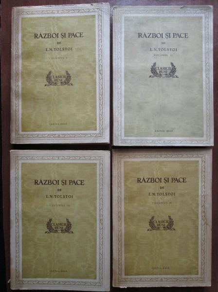 Anticariat: Lev Tolstoi - Razboi si pace (4 volume, cu ilustratii)