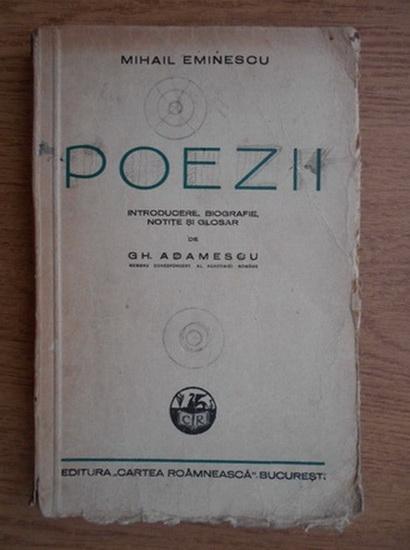 Anticariat: Mihai Eminescu - Poezii (1942)