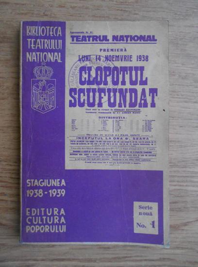 Anticariat: Gerhart Hauptmann - Clopotul scufundat (1939)