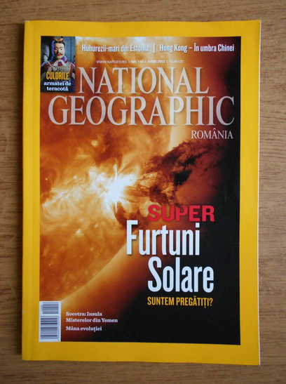Anticariat: Super furtuni solare (revista National Geographic, nr. 110, 2012)