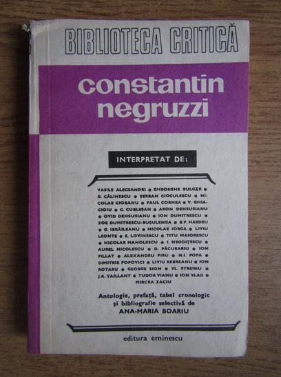 Anticariat: Constantin Negruzzi