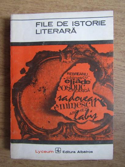 Anticariat: I. Oprisan - File de istorie literara