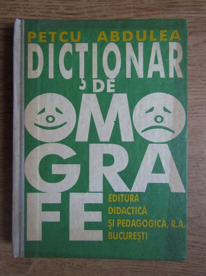 Anticariat: Petcu Abdulea - Dictionar de omografe