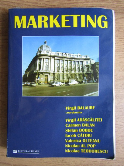 Anticariat: Virgil Balaure - Marketing