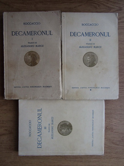 Anticariat: Giovanni Boccaccio - Decameronul (3 volume, 1932)