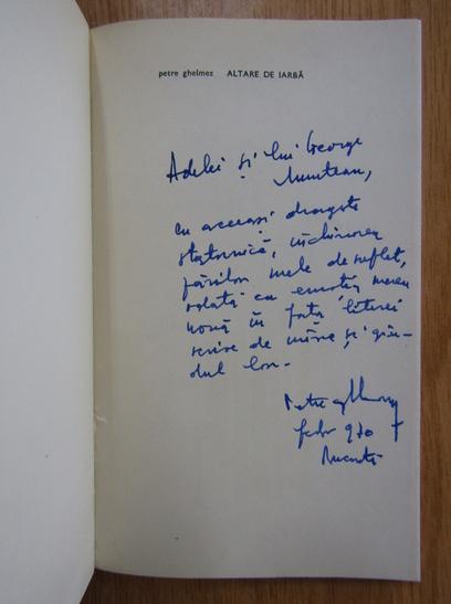 Anticariat: Petre Ghelmez - Altare de iarba (cu autograful autorului)