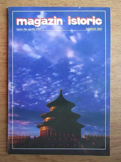 Anticariat: Magazin istoric, Anul XXXVII, Nr. 3 (432), martie 2003