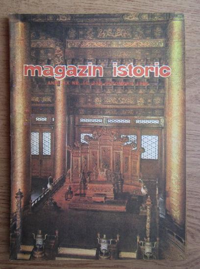 Anticariat: Magazin istoric, nr. 10, octombrie 1986