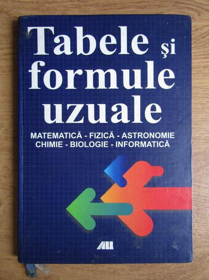 Anticariat: Gabriela Diaconeasa - Tabele si formule uzuale