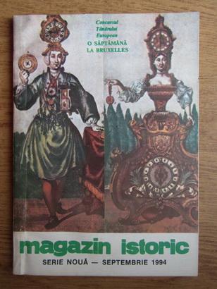 Anticariat: Magazin istoric, Anul XXVIII, Nr. 9 (330), septembrie 1994