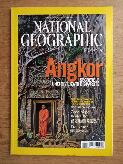 Anticariat: Revista National Geographic. Angkor. Secretele unei civilizatii disparute (iulie 2009)