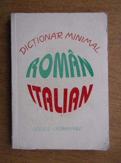 Anticariat: Dictionar minimal roman-italian