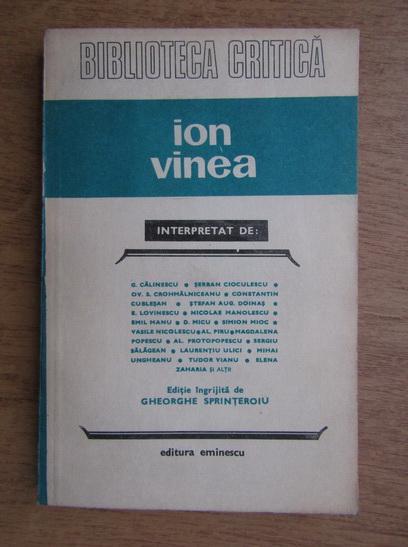 Anticariat: Ion Vinea