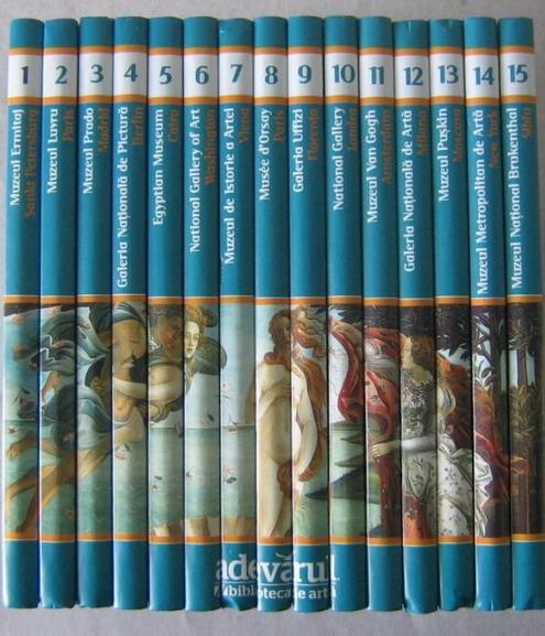 Anticariat: Colectia Marile Muzee ale Lumii - Adevarul (15 volume)