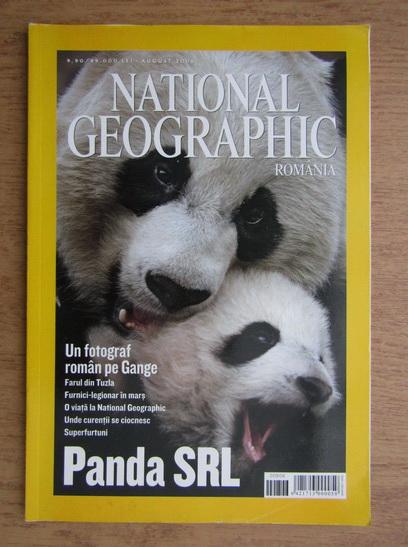 Anticariat: Revista National Geographic Romania, August 2006, Un fotograf roman pe Gange