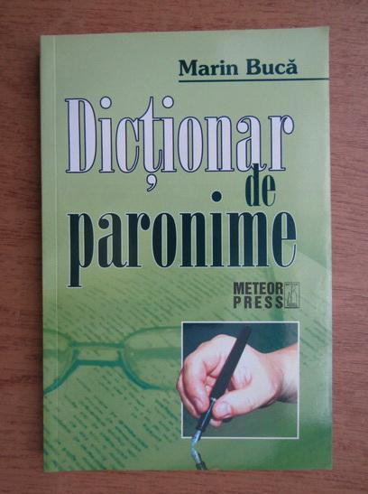 Anticariat: Marin Buca - Dictionar de paronime al limbii romane