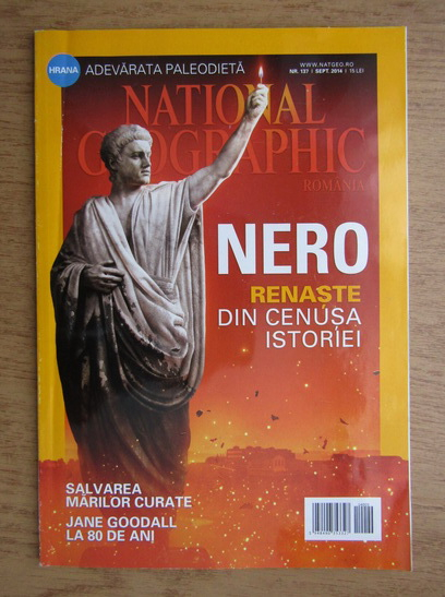 Anticariat: Revista National Geographic, nr. 137, septembrie 2014