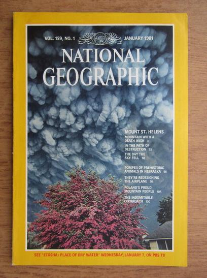 Anticariat: Revista National Geographic, vol. 159, nr. 1, Ianuarie 1981