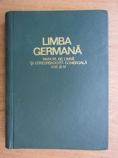 Anticariat: Limba germana. Manual de limba si corespondenta comerciala (1971)