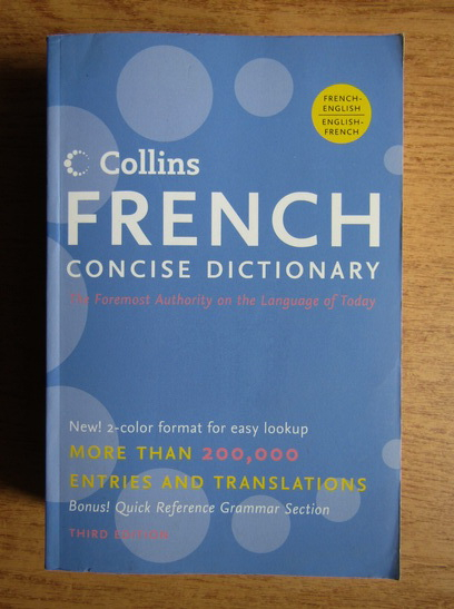 Anticariat: Collins french concise dictionary