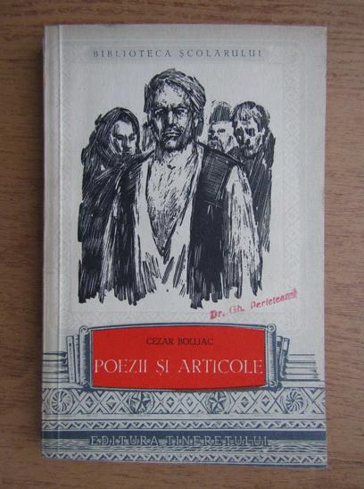 Anticariat: Cezar Bolliac - Poezii si articole