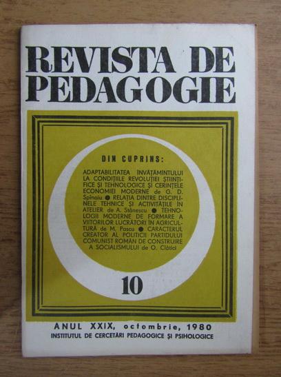 Anticariat: Revista de pedagogie, nr. 10, 1980