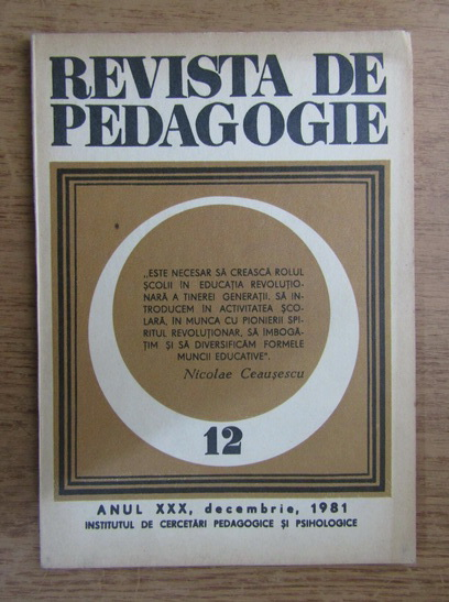 Anticariat: Revista de pedagogie, nr. 12, 1981