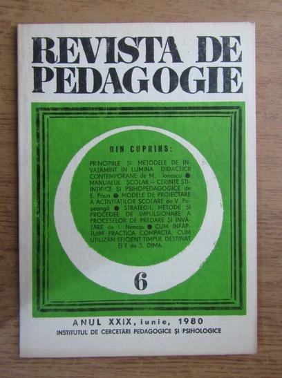 Anticariat: Revista de pedagogie, nr. 6, 1980