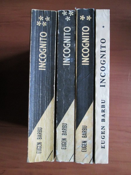 Anticariat: Eugen Barbu - Incognito (4 volume)