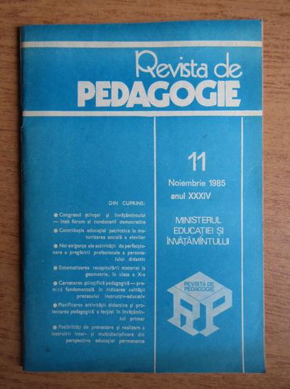 Anticariat: Revista de pedagogie, nr. 11, noiembrie 1985