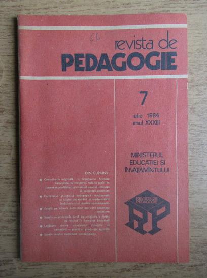 Anticariat: Revista de pedagogie, nr. 7, iulie 1984