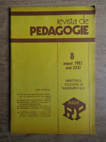 Anticariat: Revista de pedagogie, nr. 8, august 1982