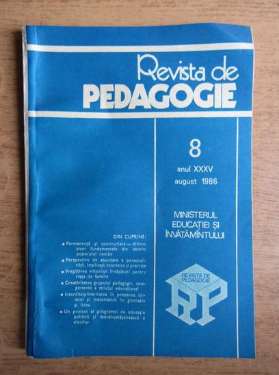 Anticariat: Revista de pedagogie, nr. 8, august 1986
