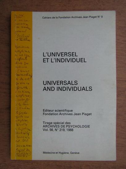 Anticariat: Universals and individuals