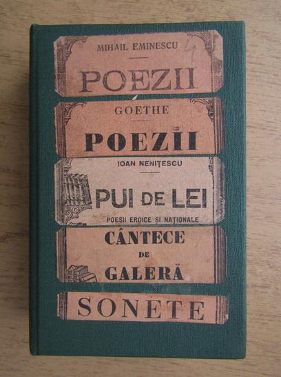 Anticariat: Mihail Eminescu, Goethe - Poezii (5 volume coligate, 1920)