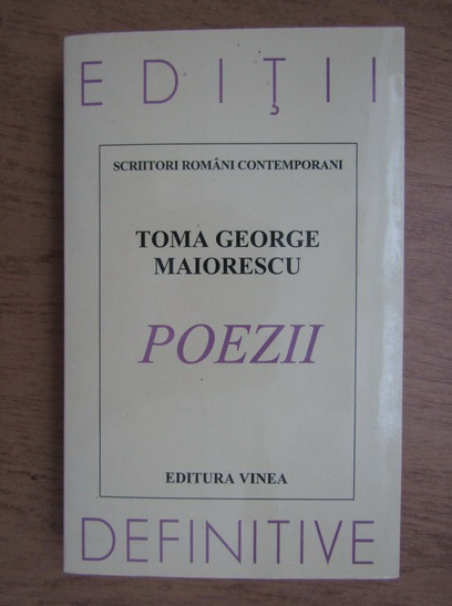 Anticariat: Toma George Maiorescu - Poezii
