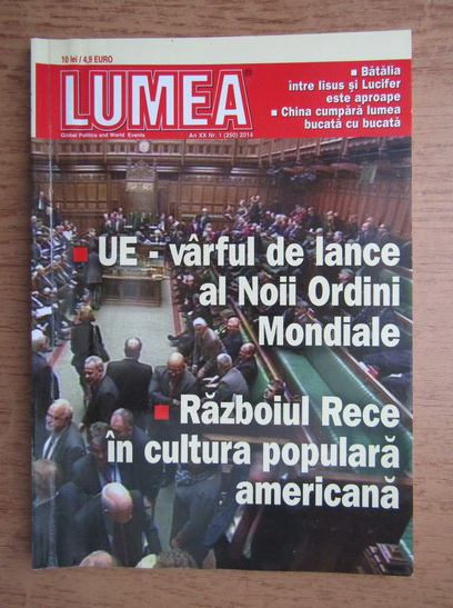Anticariat: Revista Lumea, an XXI, nr. 1 (250), 2014
