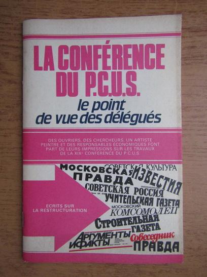 Anticariat: La conference du P.C.U.S.