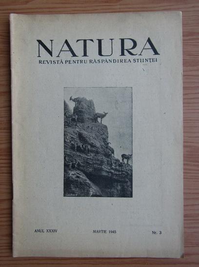 Anticariat: Revista Natura, nr. 3, martie 1945