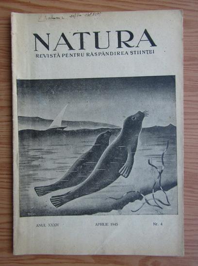 Anticariat: Revista Natura, nr. 4, aprilie 1945