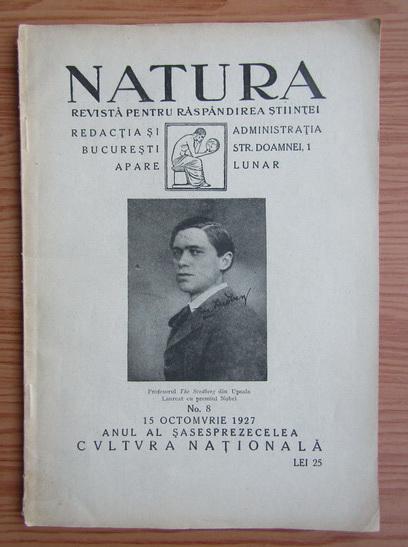 Anticariat: Revista Natura, nr. 8, octombrie 1927