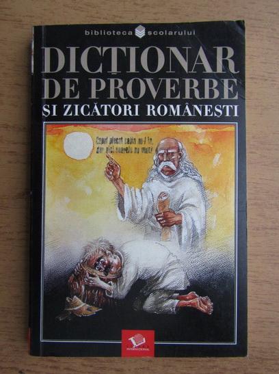 Anticariat: Dictionar de proverbe si zicatori romanesti