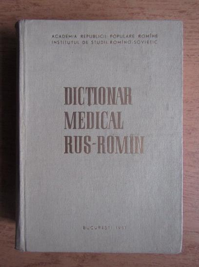 Anticariat: Dictionar medical rus-roman