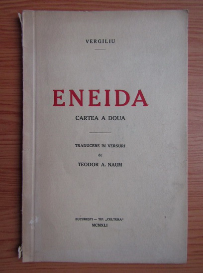 Anticariat: Vergiliu - Eneida (1941)