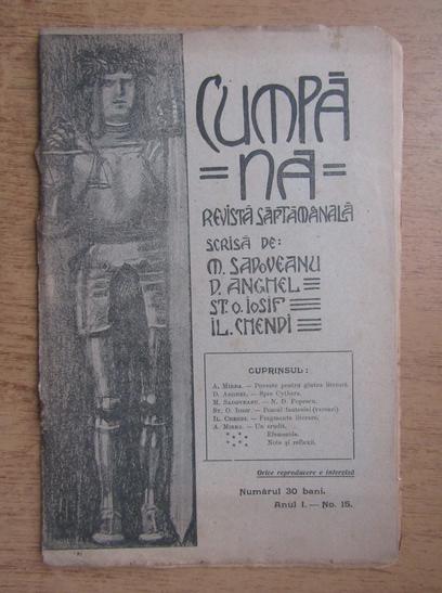 Anticariat: Revista Cumpana, anul I, nr. 15, 1910