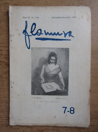 Anticariat: Revista Flamura, anul III, nr. 7-8, octombrie-noiembrie 1925